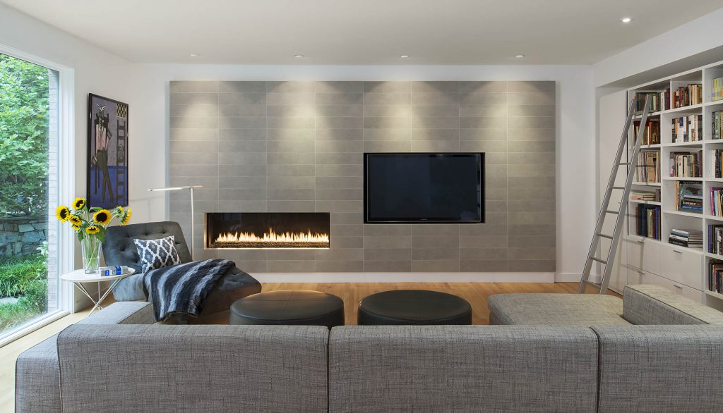 Modern living room interior design, washington DC