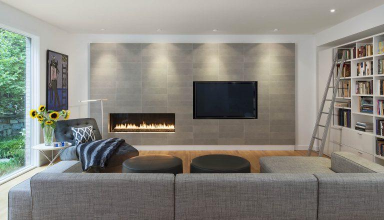 Modern living room interior design, washington DC