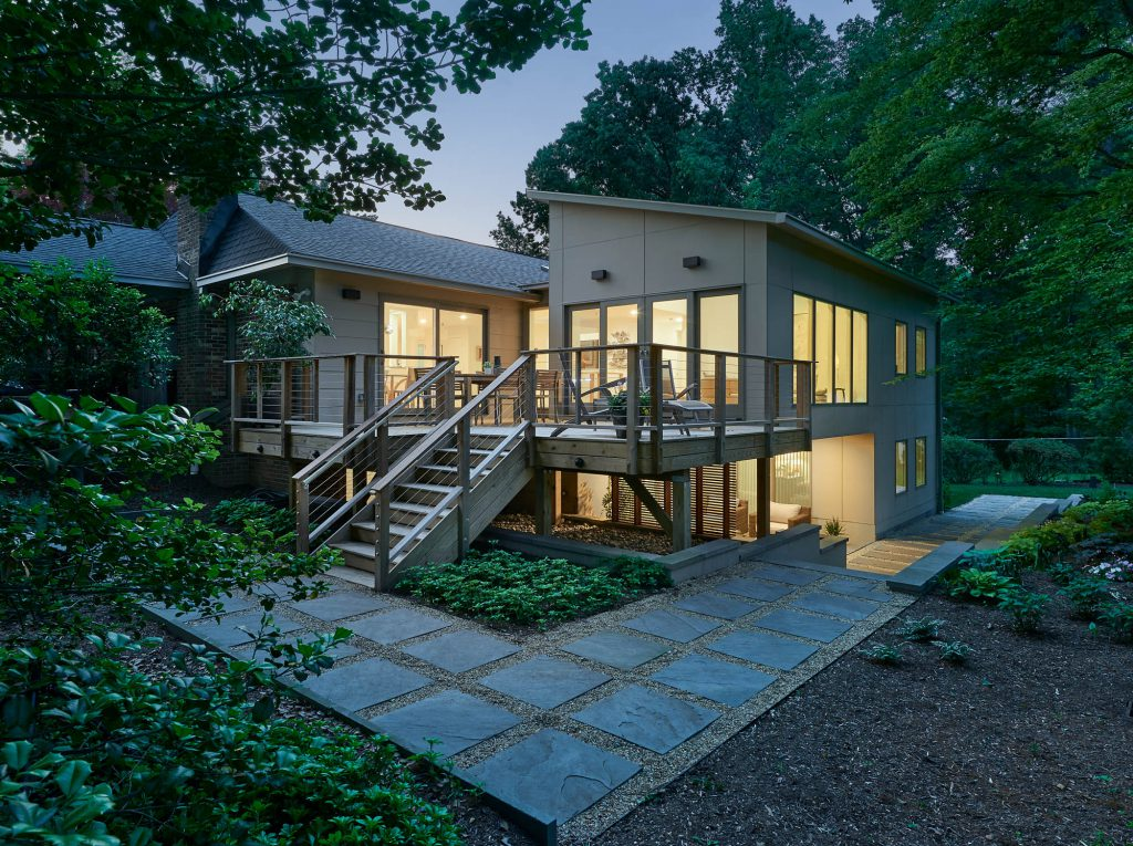 Contemporary stainless cable railings washington DC outdoor renovation